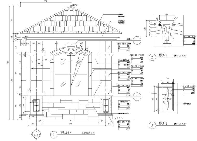 特色岗亭设计详图——泛亚景观