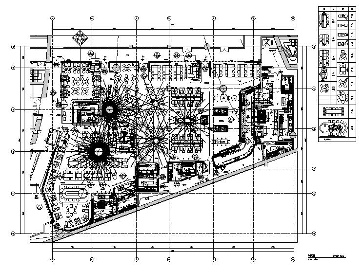 北京某美食广场丨效果图+施工图丨