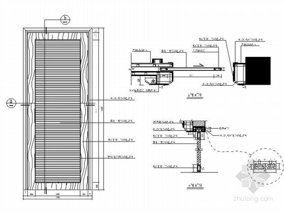 [广东]独特简欧风格四居室样板间装修施工图(含效果及实景)大样图