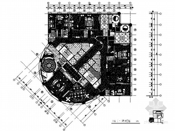 [广东]高档现代风格五星酒店总统套房室内施工图