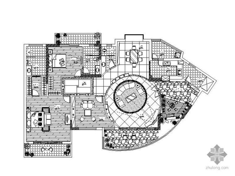欧式三室二厅装修图(含效果)