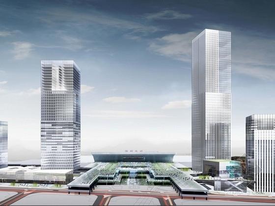 [深圳]高层绿色节能广场建筑设计方案文本(2014交通枢纽周边)