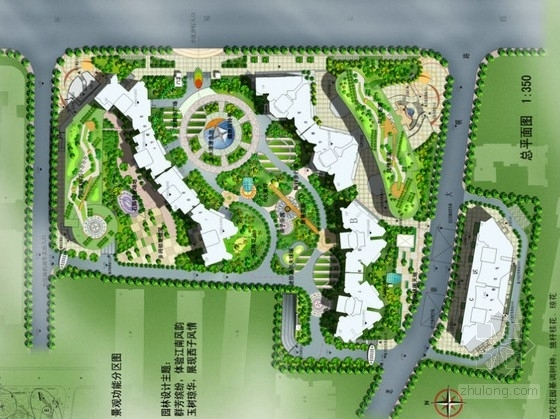 [杭州]花园小区景观设计方案