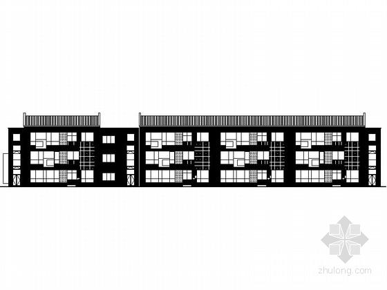 [江苏]3层现代风格幼儿园建筑施工图(立面设计优秀)