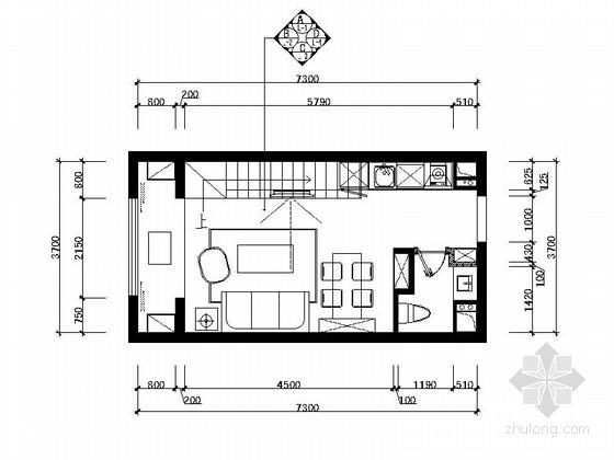 [原创]时尚波普艺术LOFT公寓CAD施工图(高清力荐!)