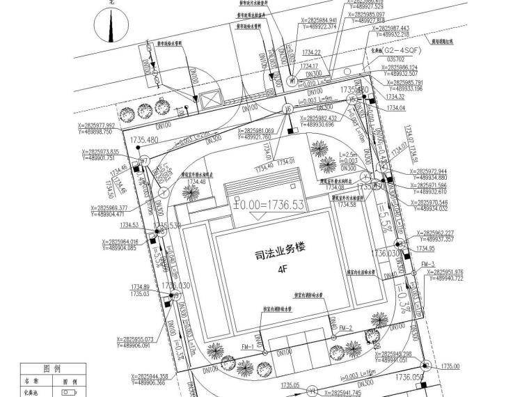 [云南]多层办公楼给排水消防施工图设计(含外线总图)