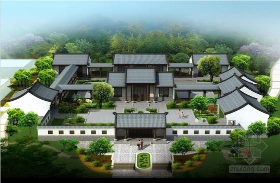[广东]古典风格景区复建文化楼建筑设计方案文本