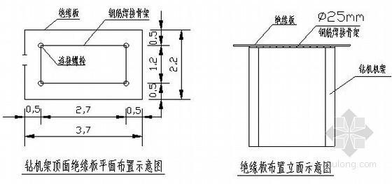 高压线下钻孔灌注桩施工方案(钢筋笼分节吊装)
