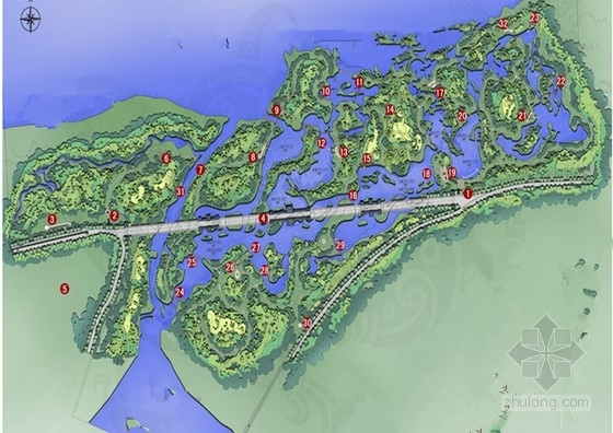 [西安]临水自然景观湿地公园规划设计方案