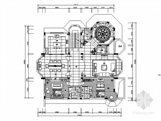 [湖北]精品新中式古典三层别墅装修图(含效果)