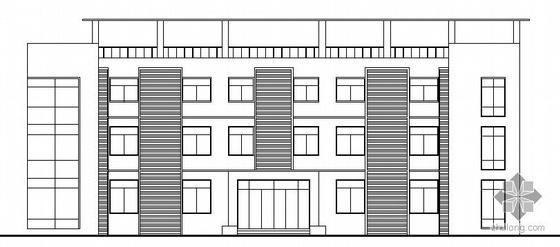 某三层框架办公楼建筑方案图