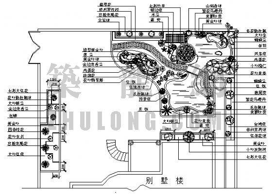 振兴围别墅小花园景观施工图