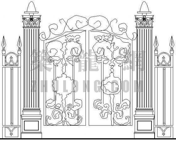 某欧式大门建筑设计方案