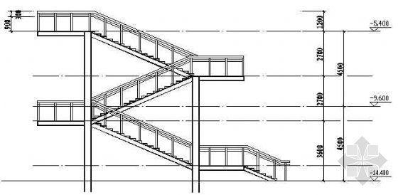 某钢结构楼梯施工图纸