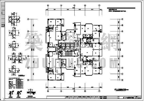 浙江某二十四层公寓给排水平面图
