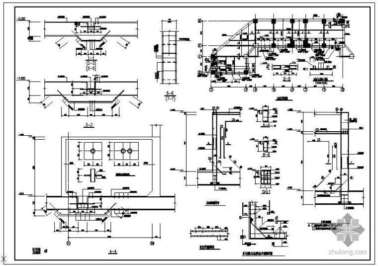 某地下室外墙及水池配筋节点构造详图