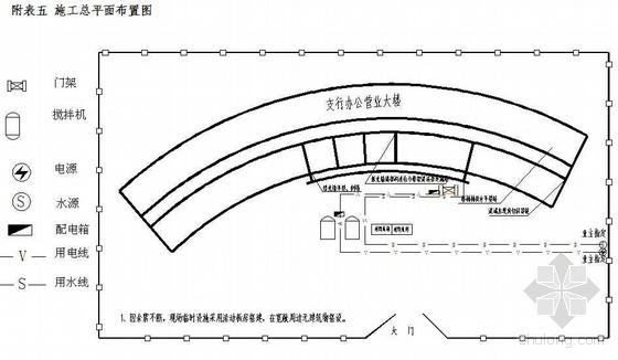 四川某银行营业厅加固改造施工方案(震后加固)