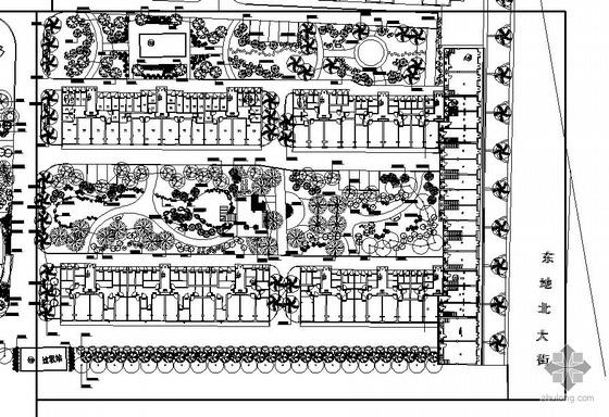德州居住区总平面种植设计图
