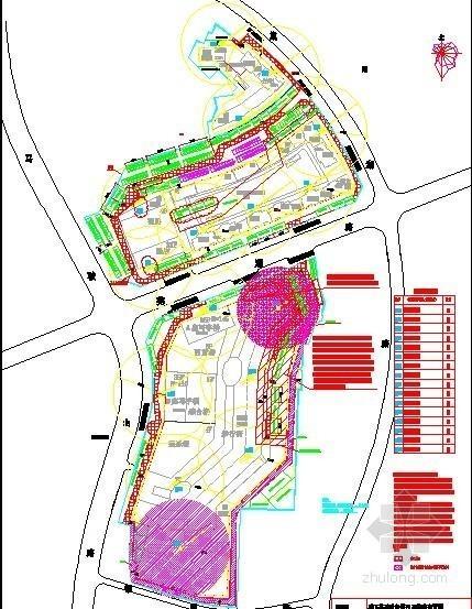 商业中心临建、临水临电施工现场平面布置图(4张)