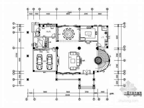 [福建]高档三层现代欧式风格精装修别墅施工图(含效果)