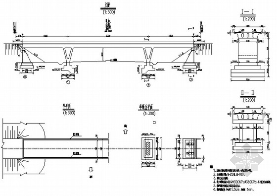[湖北]现浇预应力混凝土连续刚构桥设计图纸(全套)