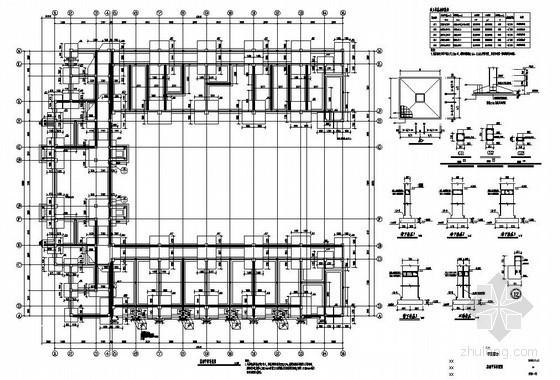 常州某5层框架中学宿舍楼结构设计图
