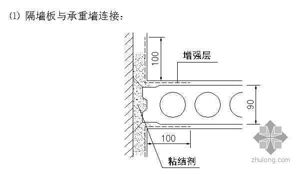 北京某高层住宅隔墙板安装技术交底