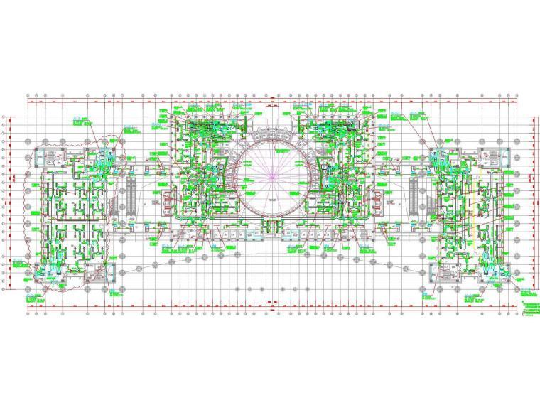 [广东]知名办公楼空调风系统设计施工图(大院出品,裙房)