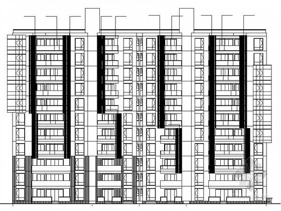 [江苏]现代风格高层住宅区建筑施工图(立面设计新颖 290余页图纸)