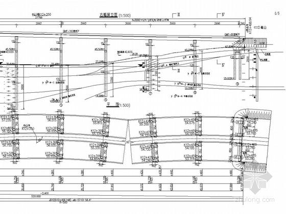 5x30+4x30预应力混凝土后张法T梁桥设计图(64张 先简直后连续)