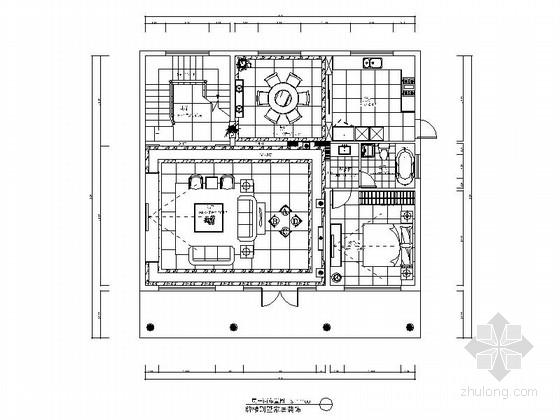 某自建牌楼别墅现代中式风格室内装修图(含效果)