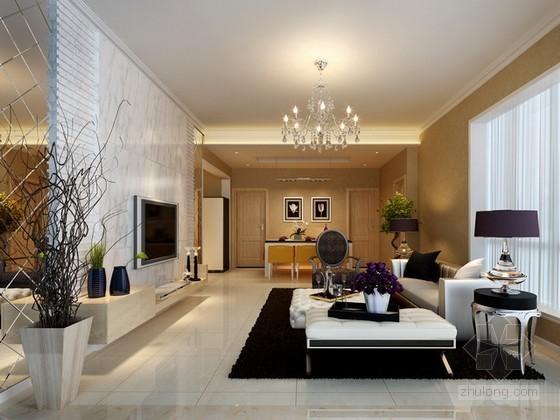 简约时尚风格客厅3d模型下载