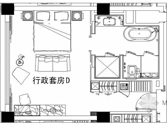 [陕西]某豪华酒店行政套房室内装修施工图(含效果)