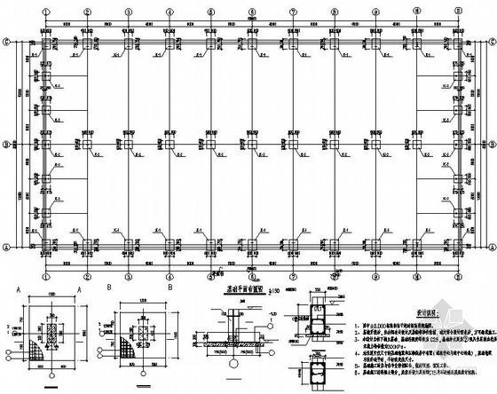 某30米轻钢结构农贸市场结构设计图