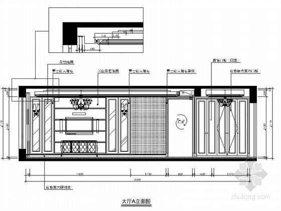 [温州]某简约四居室客厅立面图
