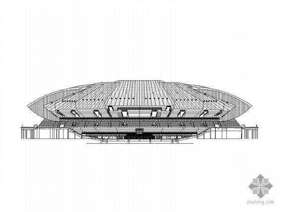 [南京]某奥体中心网球馆建筑方案图
