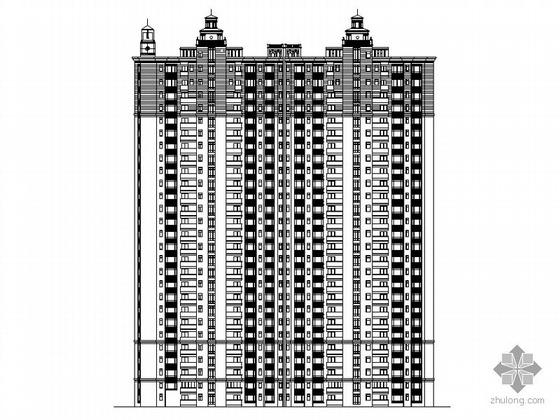 [广州]某一梯三户塔式高层住宅建筑施工图