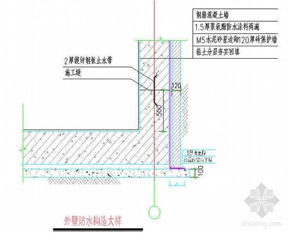 佛山某地下室外墙聚氨酯涂料防水施工工艺