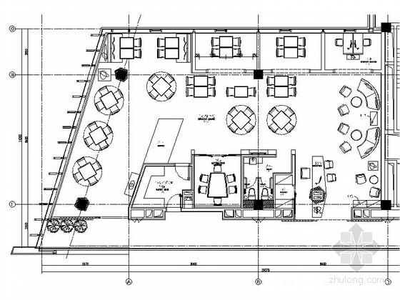 [南京]高档四星级酒店行政酒廊室内装修图