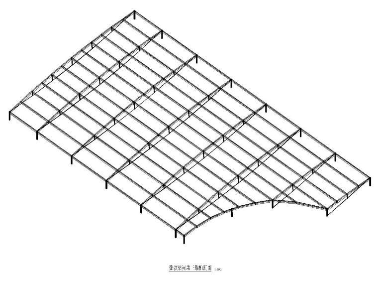 温泉酒店张弦梁钢结构工程图纸