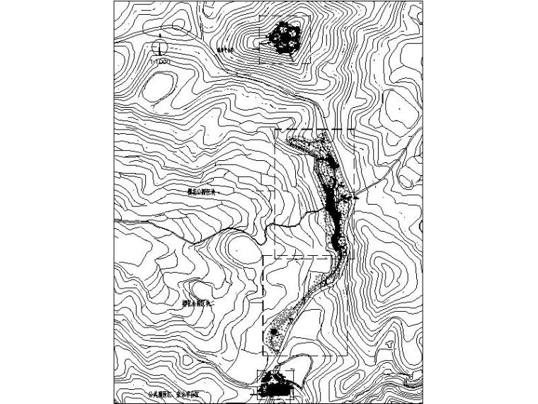 [浙江]山地公园景观设计施工图(2016年最新独家)-区块索引平面图
