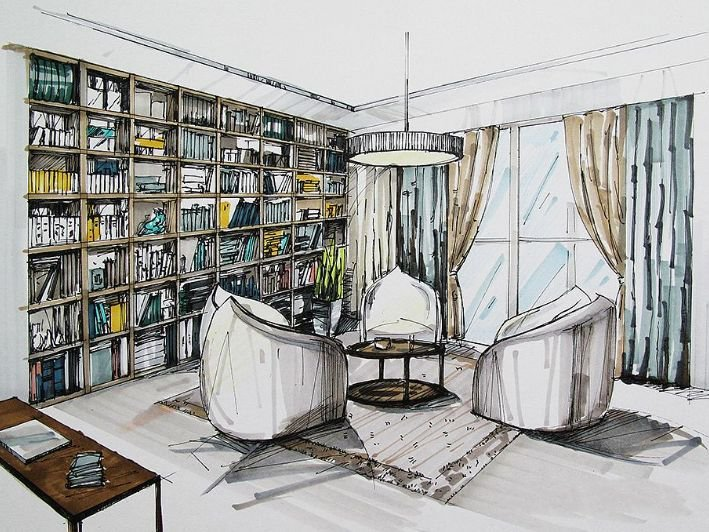 技能|室内设计手绘效果图的概念及重要性(附高清手绘图资料)