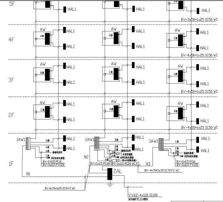 某住宅楼电气图纸