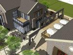 后现代风格建筑沿街商业su模型设计