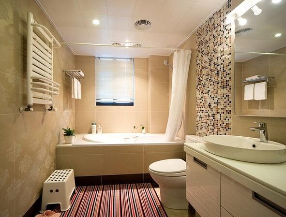 卫生间装修省钱秘笈二:实用风之浴室镜柜