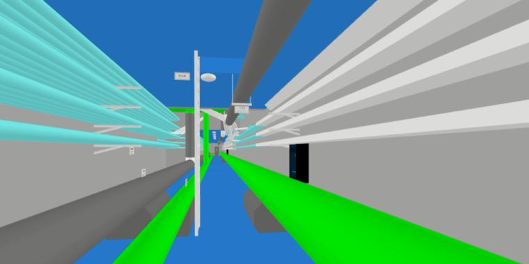最近用杰图做的管廊导入revit后做的漫游效果给各位分享一下