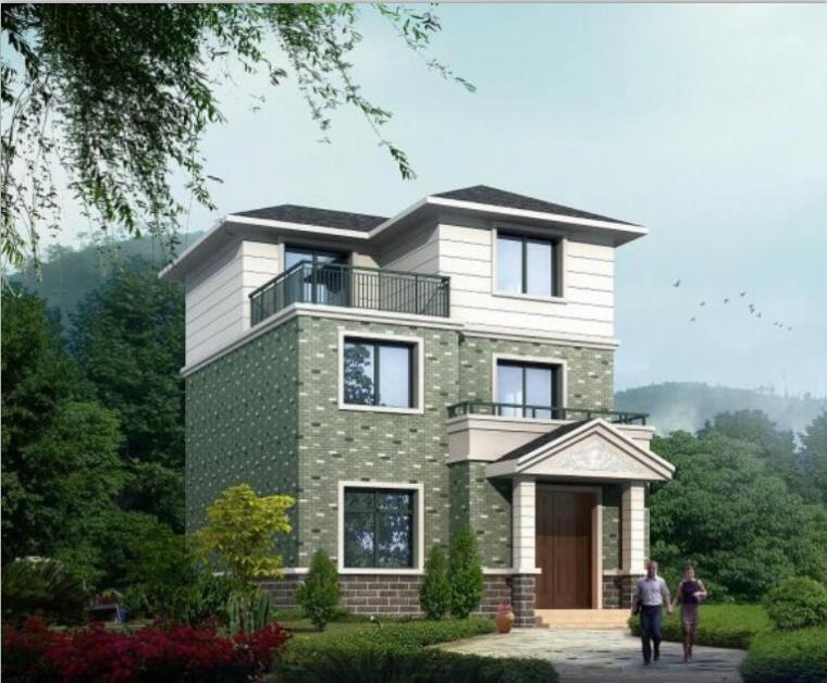 砖混结构三层单家独院式别墅设计