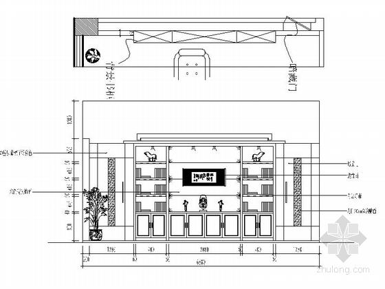 [绍兴]民营企业集团锦纶公司现代办公室装修施工图董事长办公室立面图