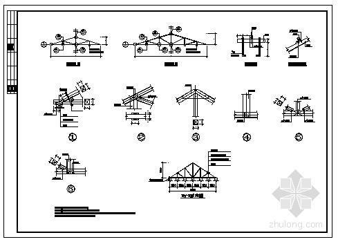 某砖混坡屋顶节点构造详图