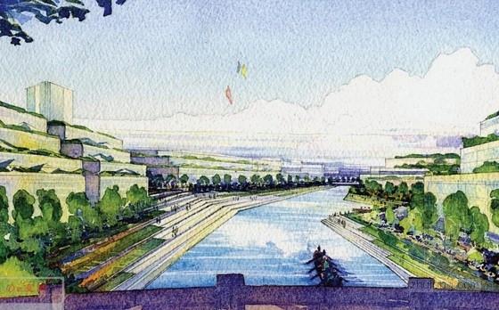 [上海]大型生态体育中心规划设计方案文本(知名事务所)-生态体育中心规划设计效果图